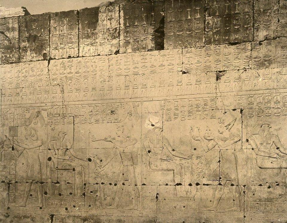 Абидос. Храм Сети I, барельеф