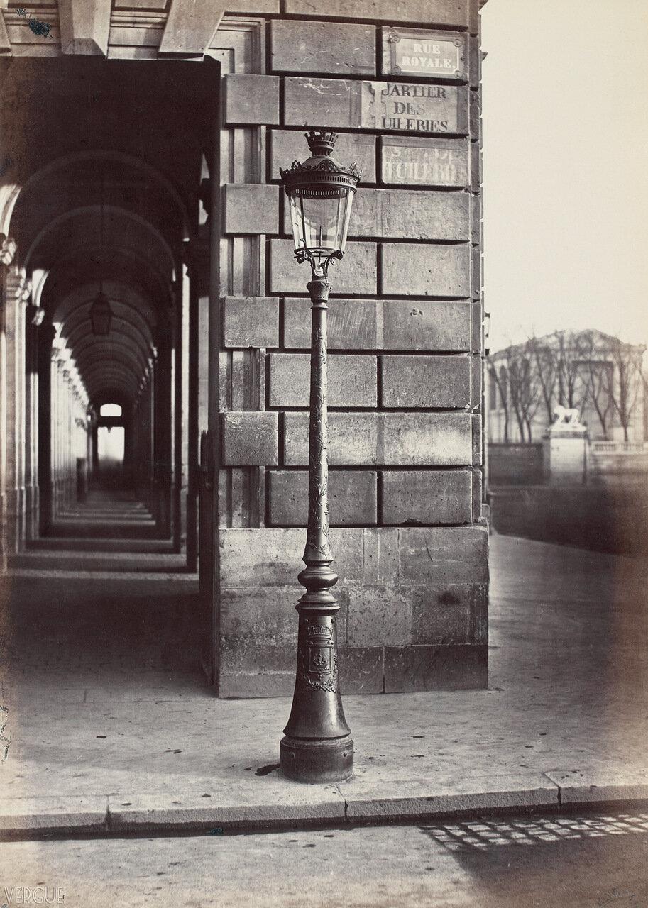 Газовый фонарь на Рю Руаяль. 1870
