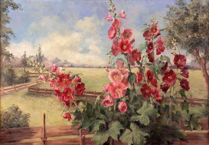 Пусть на розы они непохожи, поскромней будут эти  цветы...Художник Camilla Gobl-Wahl