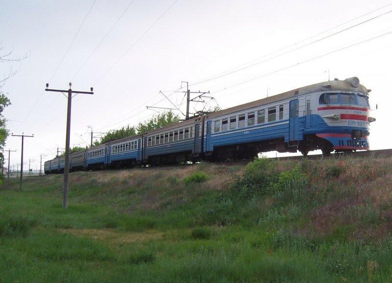 ЭР1-197 у пл. 1501 км на перегоне Бахчисарай-Сирень