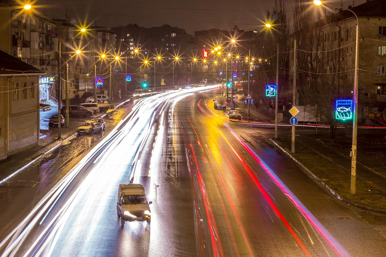 Ночная Астрахань