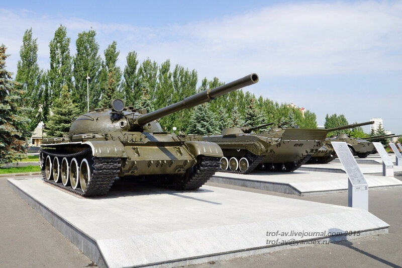 Танк Т-62 и БМП-1, Парк Победы, Казань