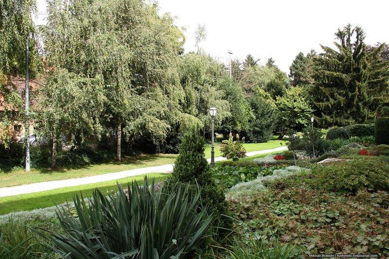 Маленький парк в Вараждине -