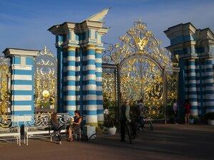 Ворота к Екатерининскому дворцу, достопримечательности Александровского парка в Пушкине