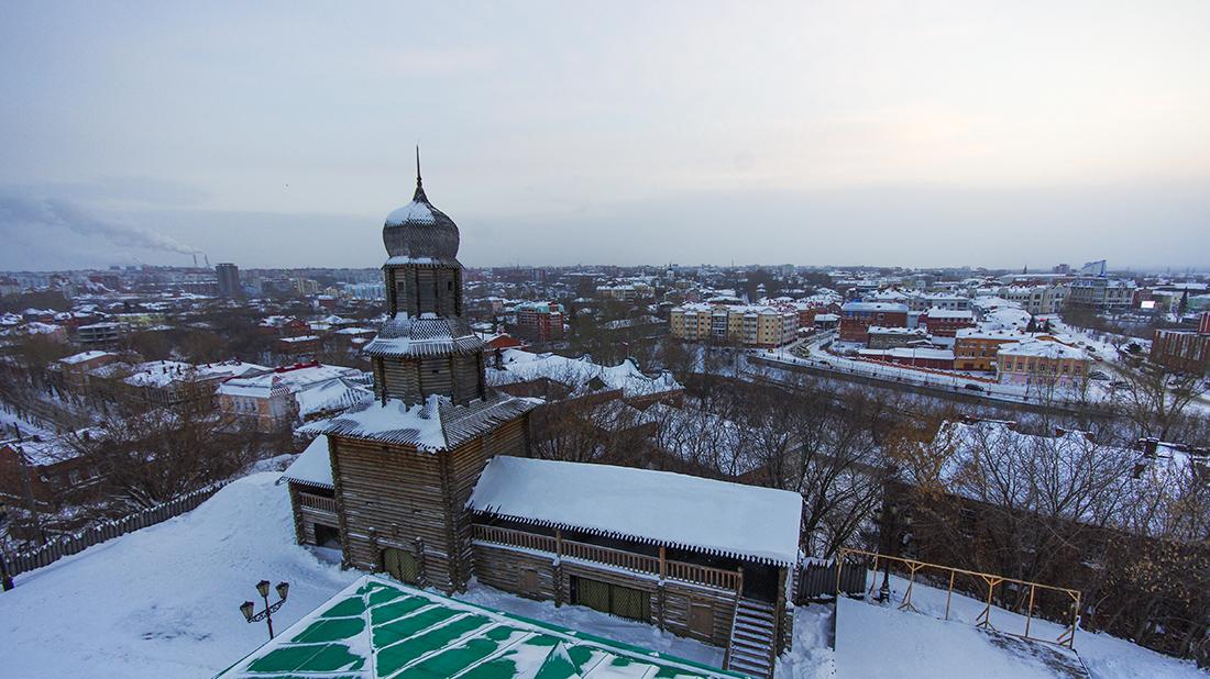 Вид на город Томск