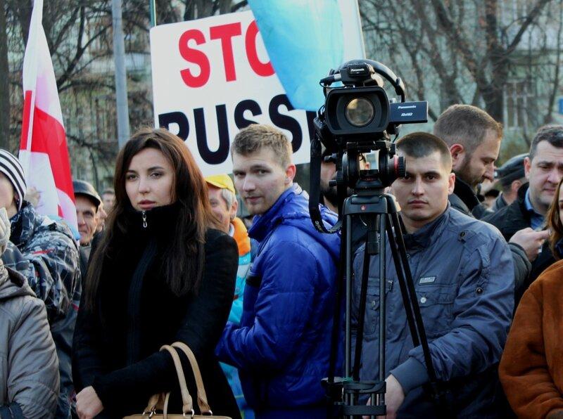 Митинг Украина и Грузия против российской агрессии