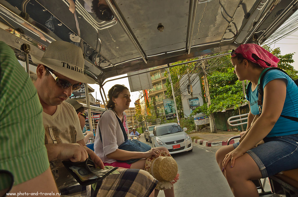 23. Внутри тук тука. Изучив карту движения общественного транспорта, вы будете легко ориентироваться в Паттайе. Отзывы об отдыхе в Таиланде. 14mm f/2.8, f/9, 400
