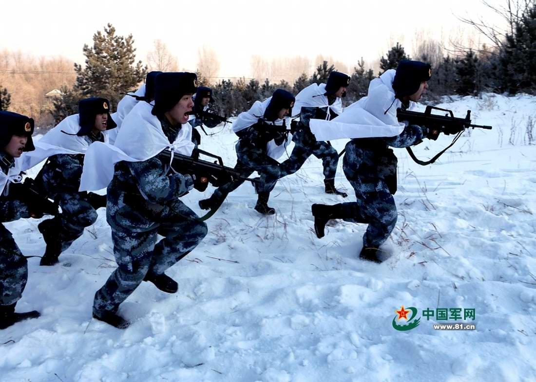 Различные виды зимнего и летнего камуфляжа, используемого в китайской армии (1)