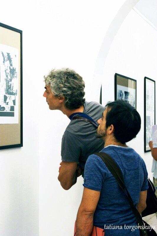 Паоло Моттура и Фабио Челони на выставке