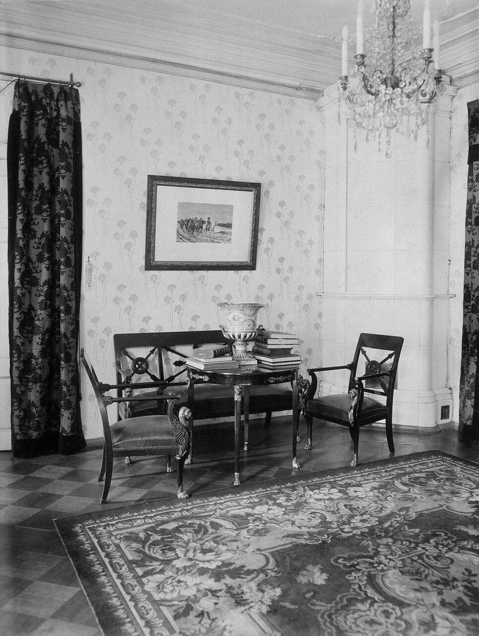 Гостиная в доме П.П. Дурново на Английской набережной