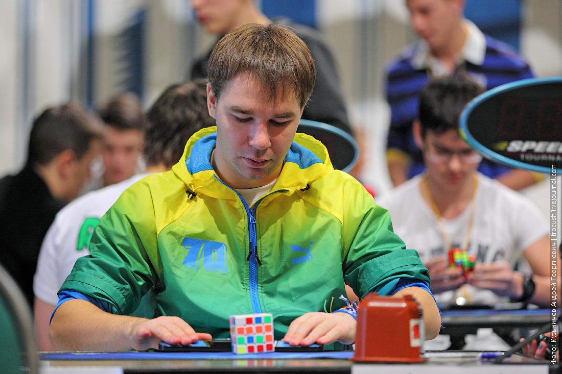 Максим Чечнев Всероссийский чемпионат по скоростной сборке кубика Рубика
