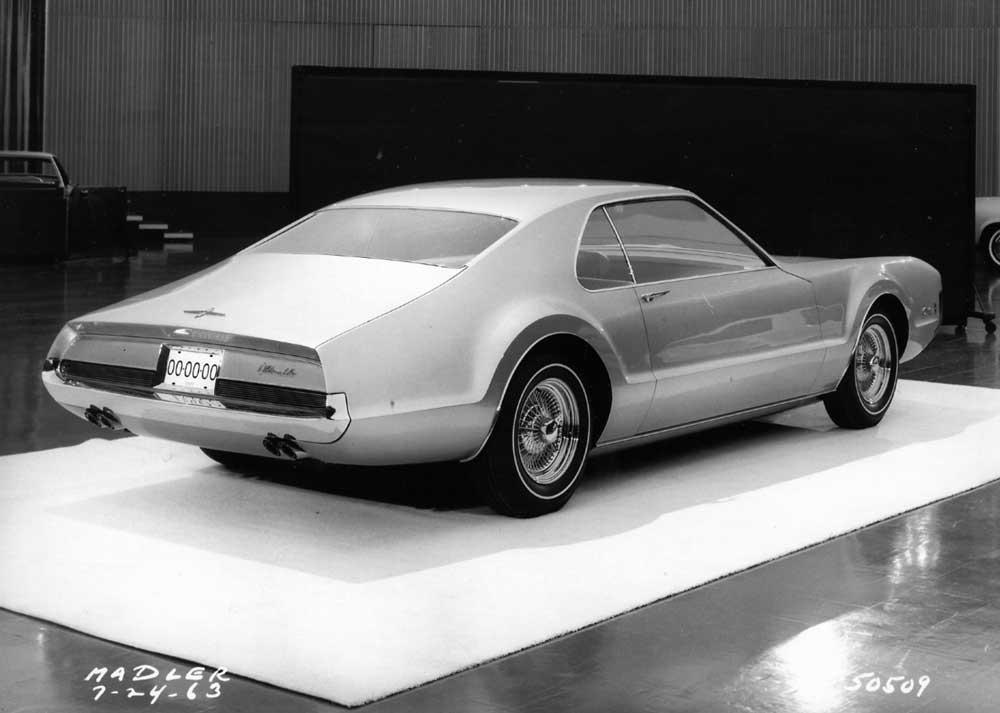 Rear 3_4 of the Toronado model. Taken inside the Design Staff Styling Auditorium.jpg