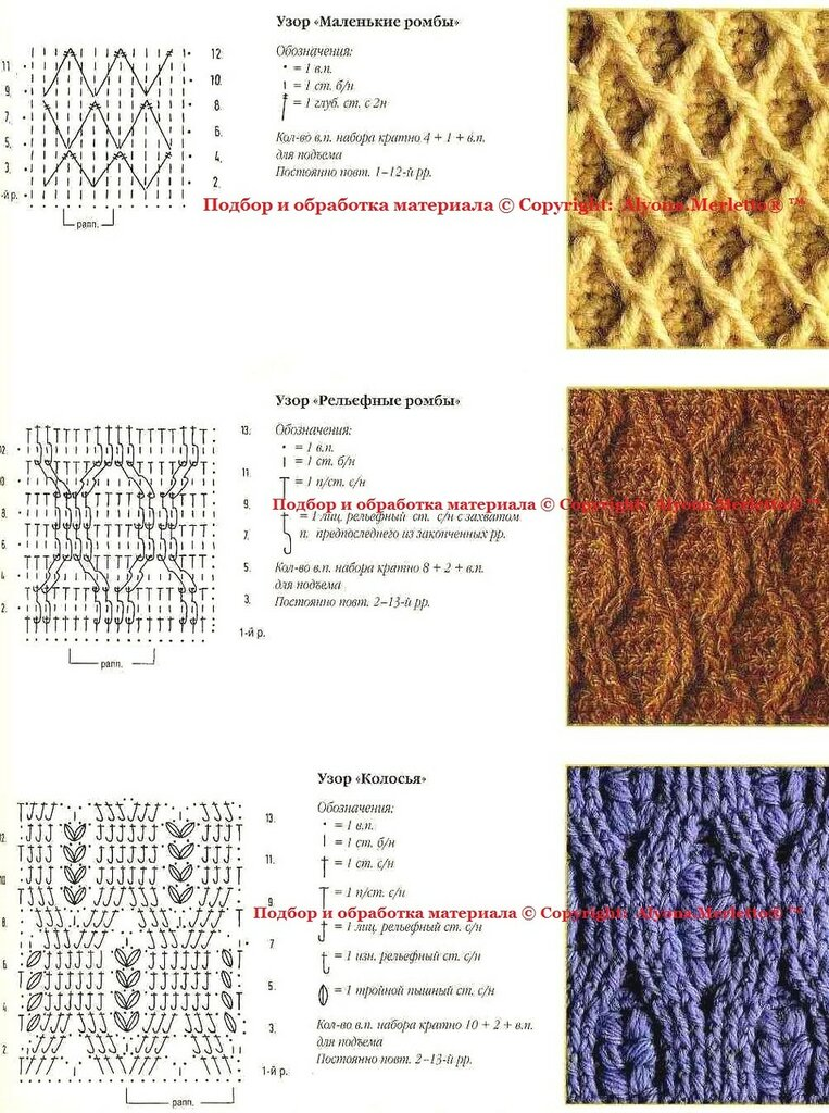 Вязание  Вязание вязание спицами вязание крючком Схемы