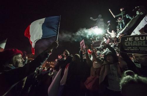 площадь Наций в Париже 11 января 2014