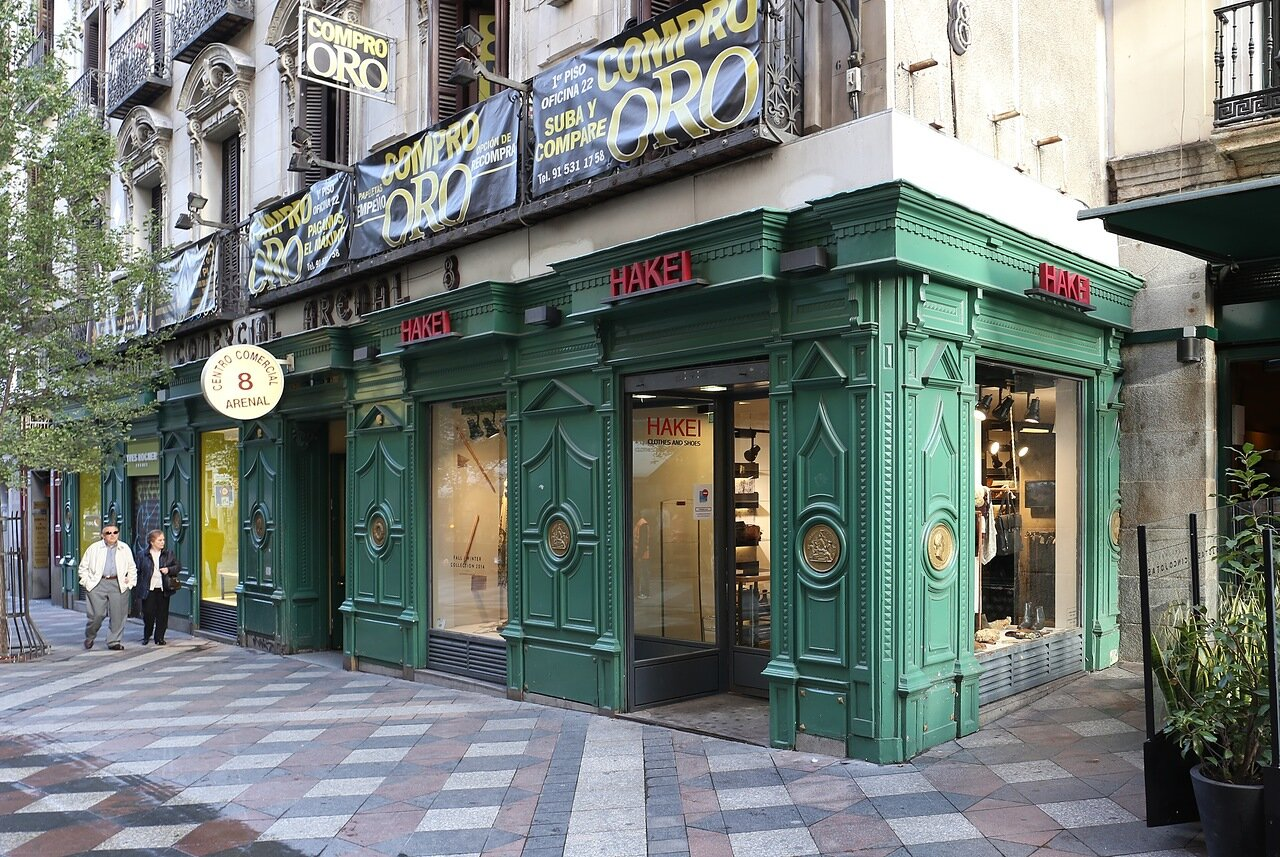 Вечерний Мадрид. Улица Ареналь (Calle del Arenal)
