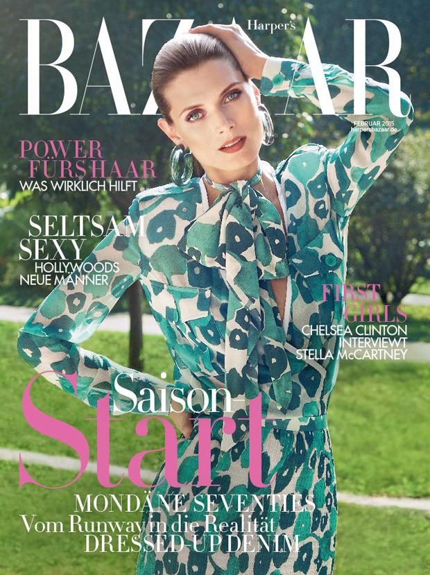 Малгосия Бела (Malgosia Bela) в журнале Harper's Bazaar Germany (2 фото)