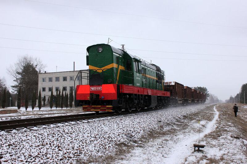 ЧМЭ3-1291 на перегоне Берёзки - Новобелицкая