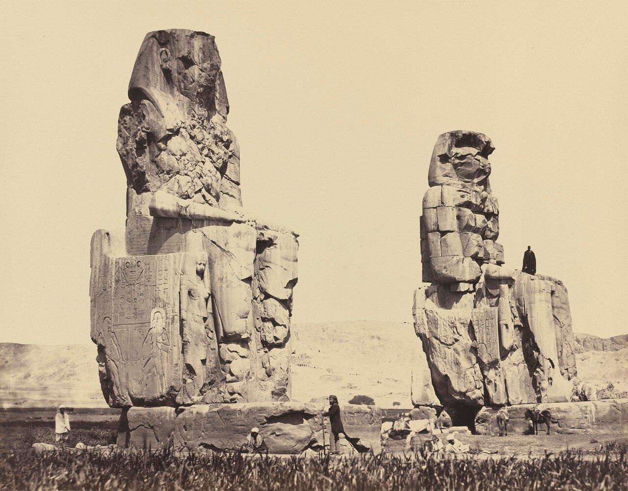 Фивы. Статуи на равнине. 1958