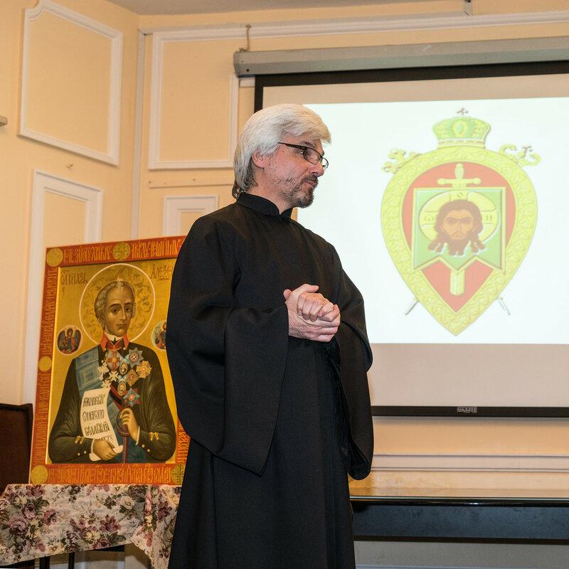 Диакон Игорь Ларин, сотрудник Центрального музея Суворова в Санкт-Петербурге