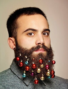 Украшения для бороды на новый год