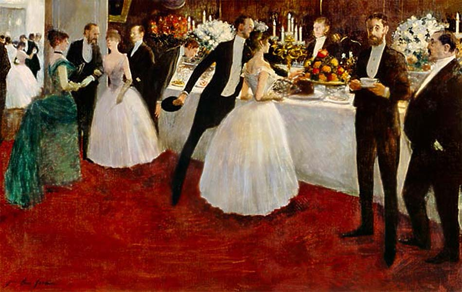 The Buffet,1884.Jean-Louis Forain (1852–1931);