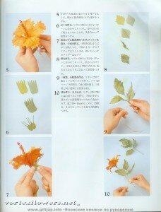 Мастер-класс. Гибискус  в японской технике цветоделия от Vortex  0_fc0a4_de304ba9_M