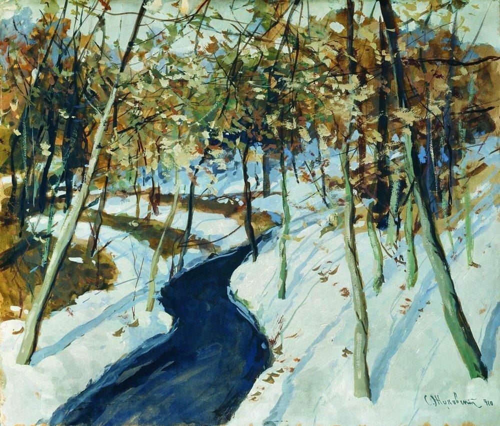 Зимний пейзаж. 1910.jpg