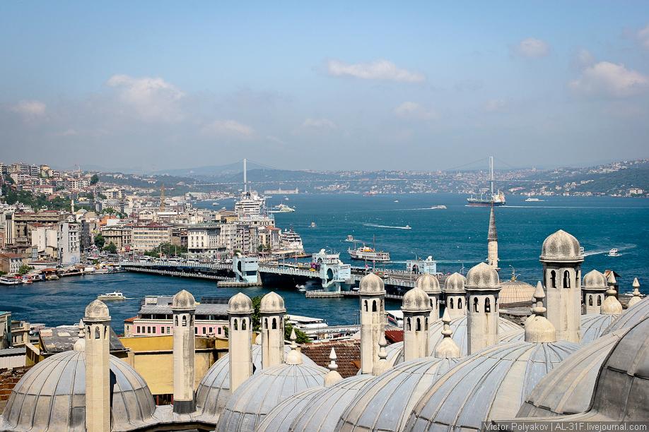 Вид на Босфор от мечети Сулеймана