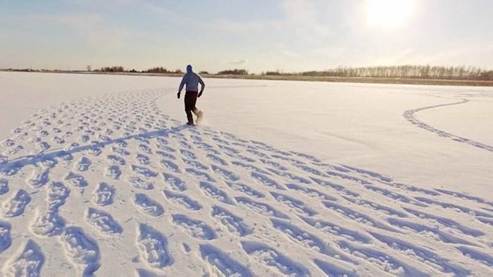 Арт на снегу