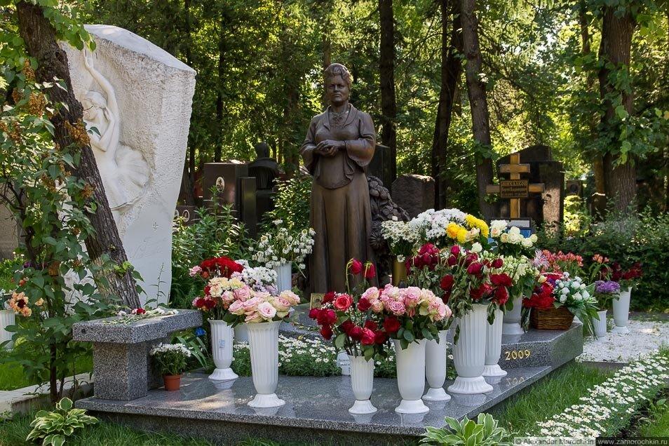 Могила Людмилы Зыкиной на Новодевичьем кладбище