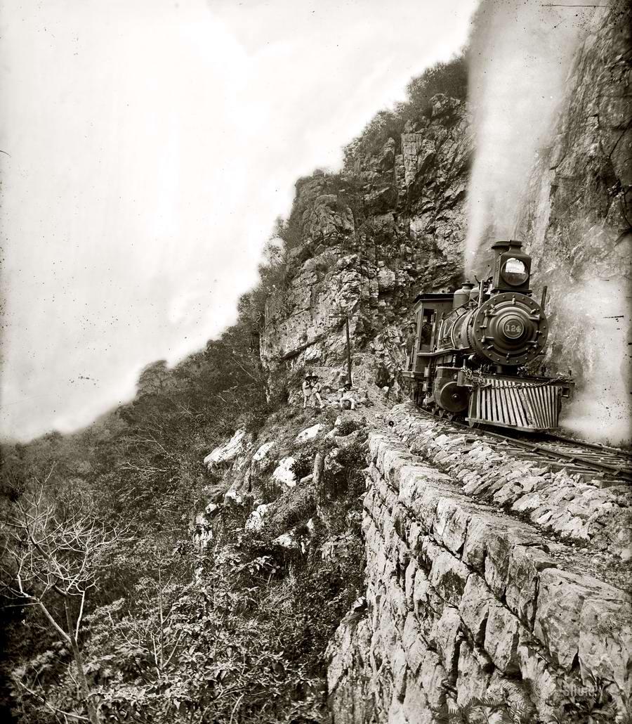 Железные дороги конца 19-го - начала 20-го века на снимках американских фотографов (15)