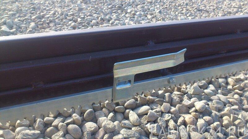 Подключение мотора для откатных ворот, рычаг остановки