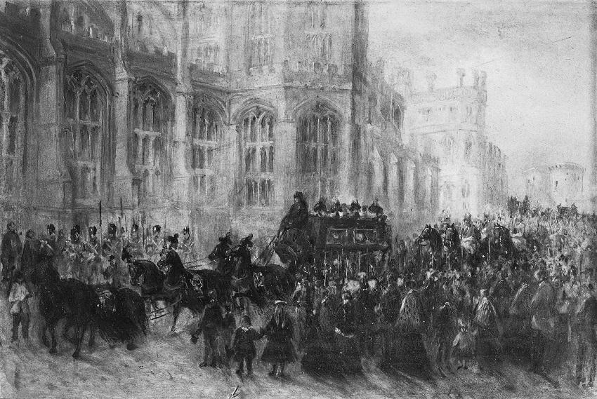 Похороны принца Альберта, принца-консорта, 23 декабря тысяча восемьсот шестьдесят один