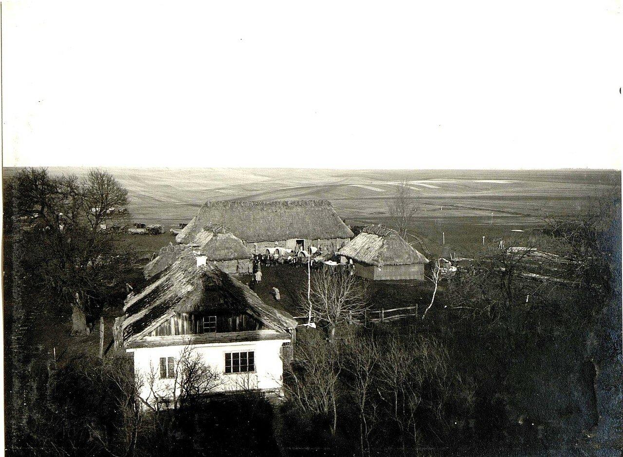 Острожец. Вид на армейские склады, 20.12.1915