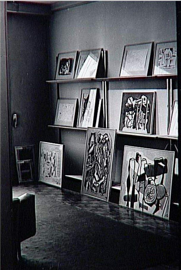 1962. Галерея Луизы Лейрис, улица Монсо, Париж. Запасники