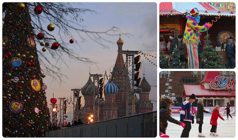 Предновогодняя атмосфера в Москве