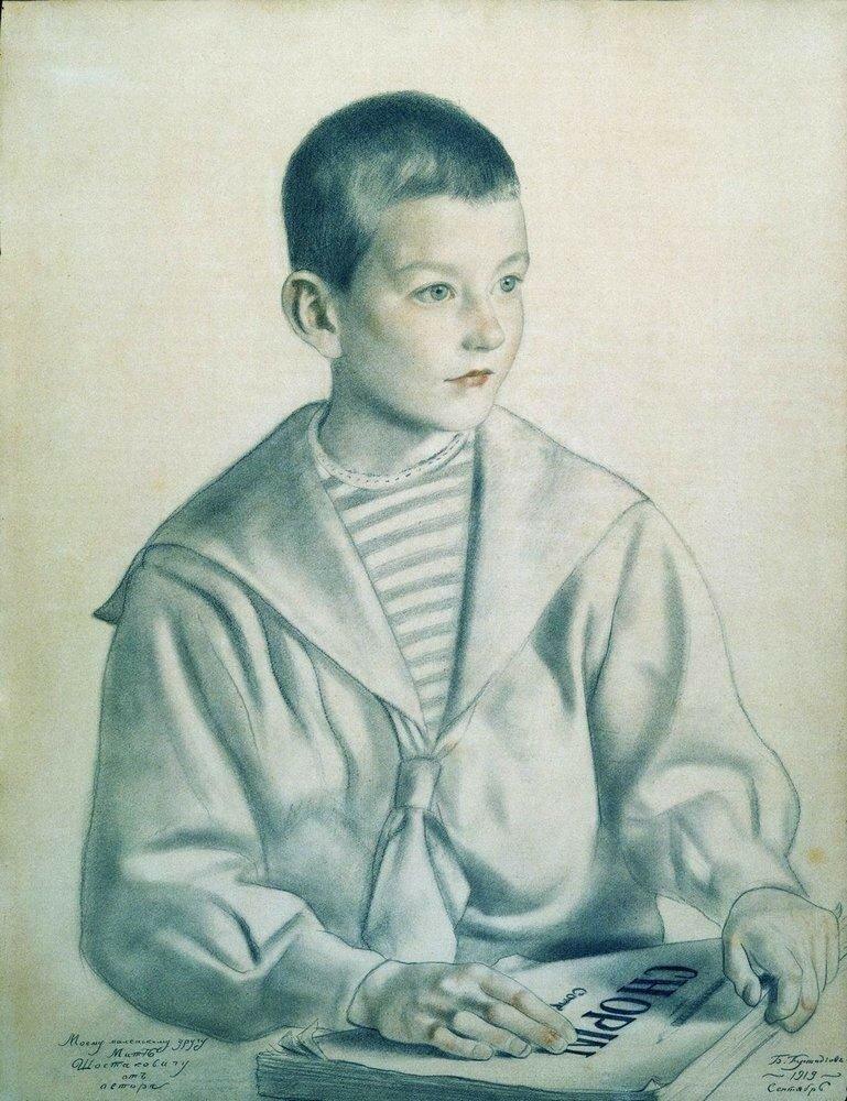 Портрет Мити Шостаковича. 1919.jpg