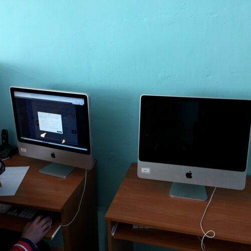 Компьютерный класс в сельской школе