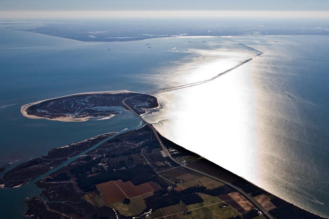 Самый длинный туннель-мост через Чесапикский залив в США соединил западный и восточный берега штата