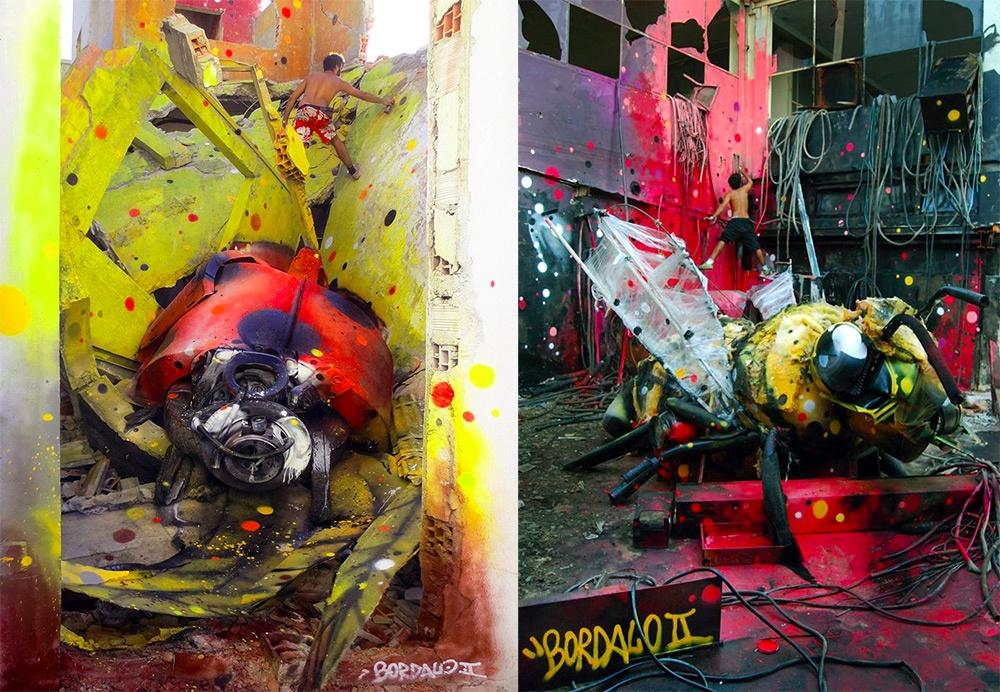 bordalosegundo Португальский художник Bordalo IIищет поулицам Лиссабона кучи мусора. Вработе они