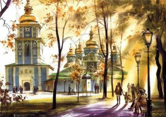 Осінній Київ різних років на картинах Сергія Брандта