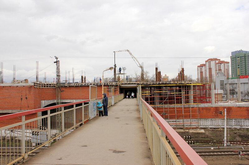 Мост в Тушино, вид на север