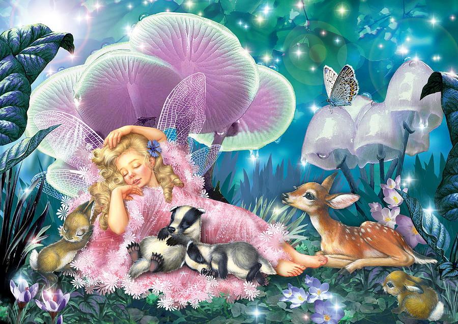 Сказочные открытки ночь, день рождения смешная