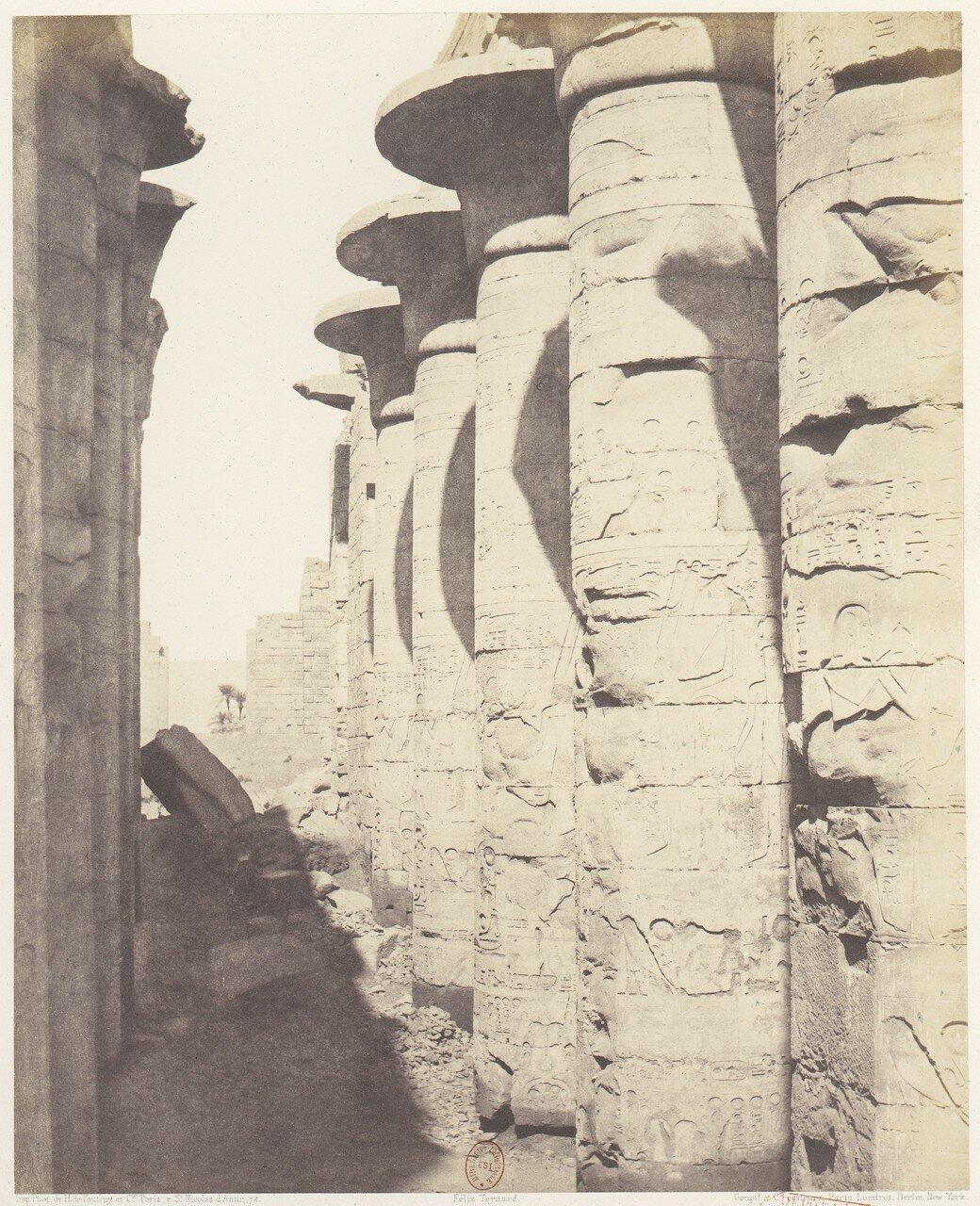 Карнак. Центральная колоннада гипостильного зала
