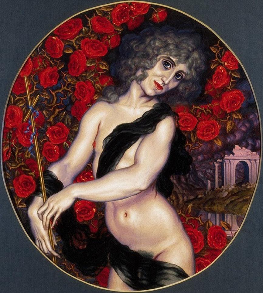 Автопортрет художника в виде Иоанна Крестителя. Nikolai Kalmakov(1873-1955).