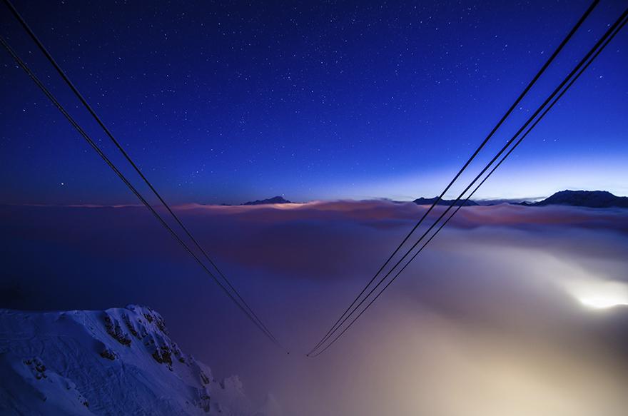 Романтичная ночь в горах