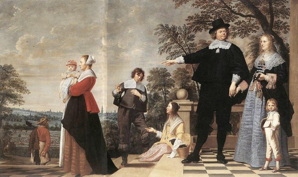 Якоб Ост Старший. Портрет Брюжской семьи 1645