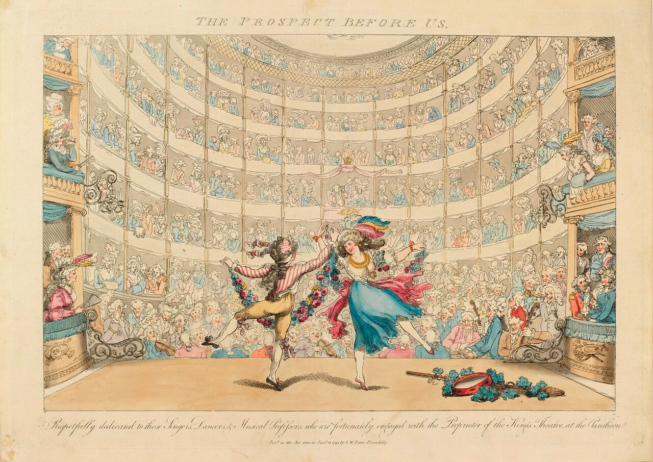 The Prospect Before us. No. 2 Respectfully dedicated to those Singers, Dancers and Musical Professors who are fortunately engaged with the proprietor of the King's Theatre at the Pantheon