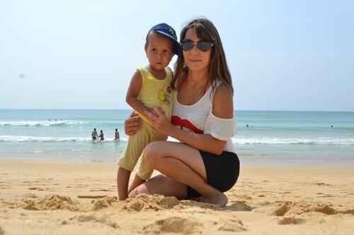 Я с сыночком. Пляж Карон