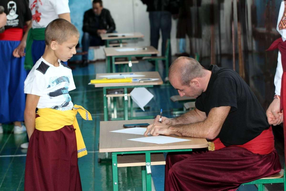 Квалификационный групповой экзамен в школе боевого гопака города Нетешин (Хмельницкая область) (30)